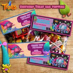 Trolls Birthday Favor Bag Topper - Favor Bag/Candy Bag/Treat Bag/Loot Bag Topper - Trolls Movie Candy Bag Toppers - Digital Printable Topper by LittleKingdomDigital on Etsy https://www.etsy.com/listing/479921711/trolls-birthday-favor-bag-topper-favor