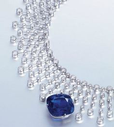 A rare sapphire and diamond necklace by Cartier. Photo: Christies Images Ltd., 2013.