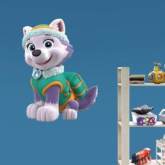The Everest - Fathead Jr wall decal is perfect for showing of PAW Patrol fandom in smaller spaces.