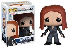 Captain America The Winter Soldier POP! Vinyl Figure Black Widow 10 cm
