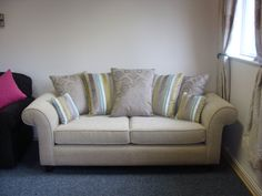 Cheap Sofas Somerville sofa with scatter back cushions in Designers Guild fabric