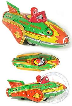 Buy Rocket Racer Sci Fi Tin Toy Classic at TinToyArcade.com
