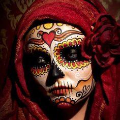 Sugar Skull - Dia De Los Muertos/Day Of The Dead Makeup Inspiration Sugar Skull Makeup, Sugar Skull Art, Sugar Skulls, Halloween Makeup Sugar Skull, Maquillaje Sugar Skull, Skeleton Body, Skeleton Makeup, Looks Halloween, Halloween Stuff