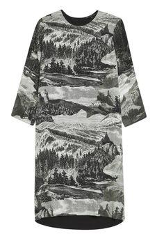 Trailer Silk Tunic - Etching Print | Milk & Thistle