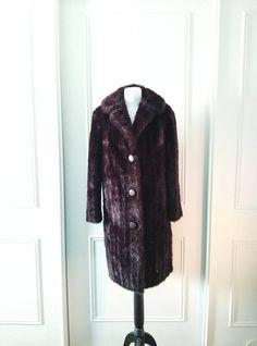 Dunbar 1970's vintage faux fur coat vintage by Bygonefashionbyjane