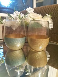21oz Stemless Wine Glasses Glitter Only