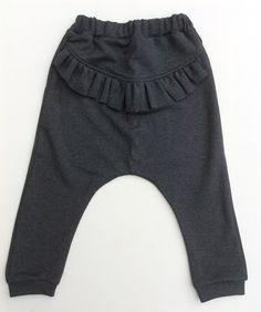 Flæse baggy bukser - mørkegrå