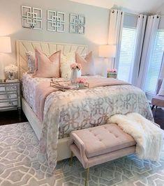 Luxury Bedroom Design, Bedroom Makeover, Home Bedroom, Gorgeous Bedrooms, Luxurious Bedrooms, Home Decor, Glam Bedroom Decor, Girl Bedroom Decor, Aesthetic Bedroom