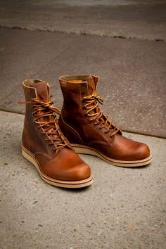 Red Wing 4572 Copper Rough&ToughYou can find Red wing boots and more on our website. Red Wing Boots, Leather Men, Leather Shoes, Vintage Leather, Fashion Boots, Mens Fashion, Gucci Men, Burberry Men, Versace Men