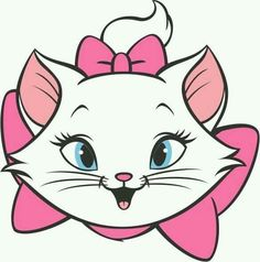 A linda Gata Marie. Emo Disney, Cartoon Cartoon, Cartoon Characters, Marie Aristocats, Disney Drawings, Cute Drawings, Marie Cat, Gata Marie, Cats And Kittens