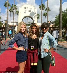Mollie, Vanessa and Frankie  at Universal studios