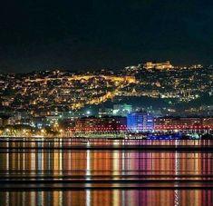 Wonderful Greece: Thessaloniki Port by Night . The White Tower . Palace Hotel, Macedonia, Sydney Harbour Bridge, Wonderful Places, Tower, Explore, Country, Night, Greece Thessaloniki