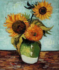 Van Gogh - Sunflowers, First Version