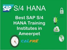 Calfre provides an intensive and comprehensive hands-on SAP S/4 HANA Training institutes & Coaching Centers in Ameerpet, Hyderabad. calfre known for practical approach towards training that enable students to gain real-time exposure on competitive technologies. Calfre is Providing one of the Best SAP Training Institutes in Hyderabad provides Online / Class Room Training.