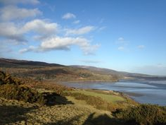 View from Torr Hill near Portling on the Solway Coast in Dumfries and Galloway. February 2015. B.