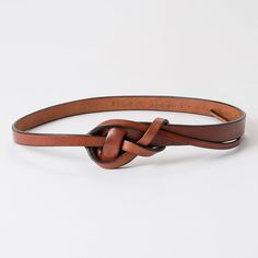 Leather belt from scrap leather.. Could even stitch together different color pieces