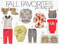 fall favorites for baby girl