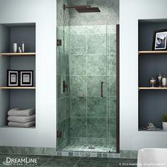 Dreamline Unidoor 33-In To 34-In Frameless Hinged Shower Door Shdr-203