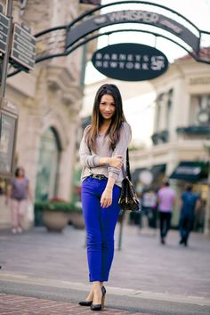 Colored Pants: Electric Blue