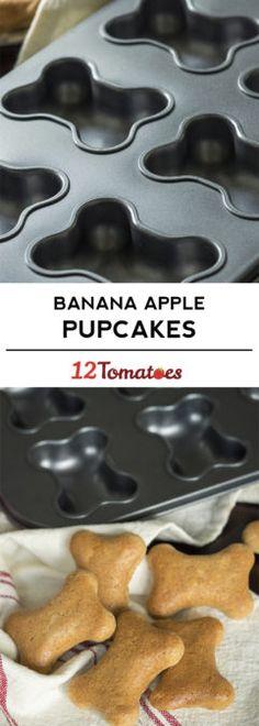 Banana Apple Pupcakes