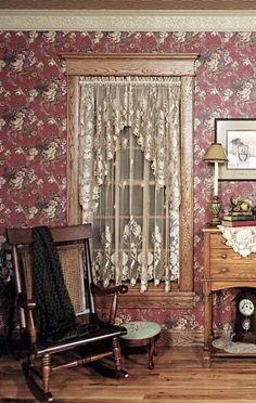 White Windsor Lace Window Curtains From Victorian Trading Co