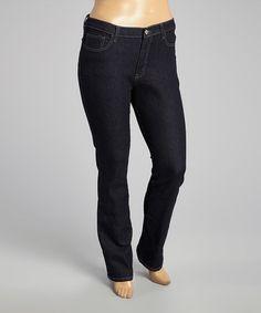 Black Straight-Leg Jeans - Plus #zulily #zulilyfinds