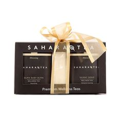 Let the holiday gift shopping begin!  Available in each of our five wellness tea collections this beautiful holiday gift box includes two tins of loose leaf tea a 60/pack pouch of Fill & Fold Filters custom gift box and ribbon. For blend options please click on the link in our profile! . . #saharatea #wellness #tea #wellnesstea #toronto #shoplocal #handmade #smallbatch #holiday #gift #giftbox #holidaygift #slimming #skinnygenie #burnbabyburn #greentea #blacktea