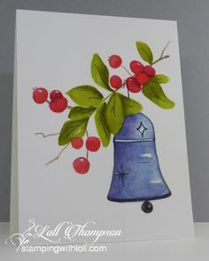 Stamping with Loll: Watercolour Christmas