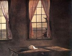 Andrew Wyeth 'Her Room' (detail) 1964, tempera on panel | Flickr