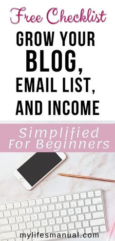 Make money blogging. Want to have a blog that generates an income consistently? Grab the free checklist. It is a blogging guide with everything you need to know in order to grow your blog, grow your list and make money blogging. Stop wasting time figuring how to make money blogging. Grab this free guide today and start your profitable blog. #passiveincome #bloggingformoney #bloggingtips #makemoneyonline