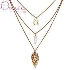 Find More Chain Necklaces Information about Onnea Multi layer crystal statement Leaf pendant necklaces gold plated link chain 3 layers necklace jewellery bijoux femme 2015,High Quality necklace tanzanite,China necklace alice Suppliers, Cheap bijoux fashion from Vogue Fashion Jewelry Co.,Ltd on Aliexpress.com