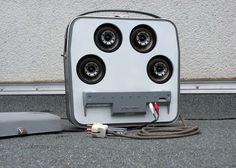 Boombox feito com um gravador antigo