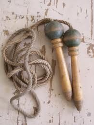 Have to admit I really liked my skipping rope. Wooden handles with real rope, not today's plastic whips !