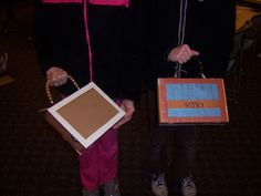 The front of the twins' finished purses! From the 11/29 class at Guilford Free Library.