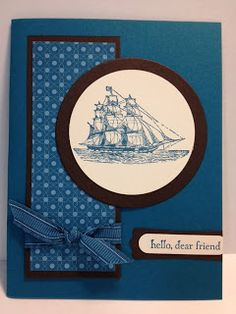 The Open Sea Masculine Card  Stampin' Up!  Rubber Stamping  Stamp a Stack cards