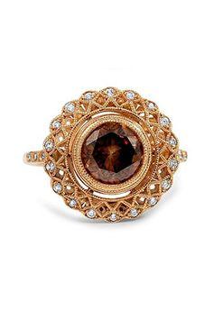 Brilliant Earth The Takori Ring, $10,050; brilliantearth.com   - ELLE.com