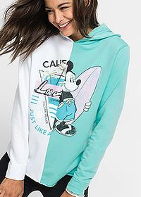 Mikina biela-svetlomätová Mikina s • 17.99 € •  bonprix Disney Fashion, Disney Style, Graphic Sweatshirt, Sweatshirts, Sweaters, Hoodies, Sweater, Disney Clothes, Trainers