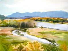 another LOOK: Afternoon at Daisy Hill Conservancy - watercolor ...