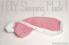 Máscara de dormir para as mães - lindo presente   Revista Artesanato
