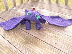 Toothless from How to Train Your Dragon crochet by Macabrochet