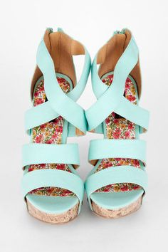 sky blue wedges