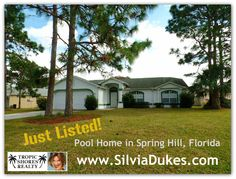 Spring Hill Pool Home for Sale 11262 Montcalm by Silvia Dukes