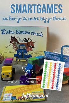 Ga jij binnenkort aan de slag met het thema boerderij? Dan kun je het spel Trucky van SmartGames goed gebruiken zeker in combinatie met het boek Kleine blauwe truck. In dit artikel lees je hoe je een SmartGame kunt inzetten tijdens je thema. Heb jij het gratis formulier bij SmartGames al gedownload? #JufBianca