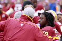 Robert Griffin III hit hard, knocked out of game (US Presswire) #Washington #Redskins