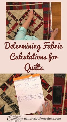 How much of each color of fabric is needed to complete a design is generally given when you are working off of a purchased pattern. However, when designing your own quilt it can be difficult to know how much you will need. Heather Thomas shows you how to do basic fabric calculations to determine how much of each color or print of fabric you will need. Quilting Frames, Quilting Tools, Quilting Tutorials, Quilting Projects, Quilting Designs, Quilting Fabric, Quilting Ideas, Easy Sewing Projects, Sewing Tips