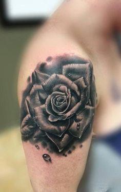 tattoo black rose coverup - Google Search
