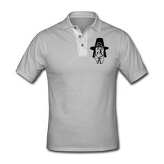 Colonial Thanksgiving Pilgrim Men's Polo Shirt Gray Men's Polo Shirt |... ($29) ❤ liked on Polyvore featuring men's fashion, men's clothing, men's shirts, men's polos, mens gray dress shirt, mens long sleeve collared shirts, mens cotton shirts, mens golf shirts and mens polo shirts