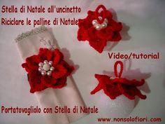 Stella di natale all'uncinetto - Crochet poinsettia - Poinsettia de ganchillo Video/tutorial - YouTube