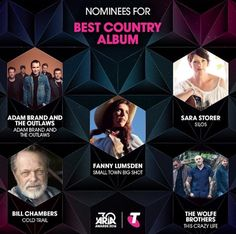 The annual ARIA nominations are out, while there were a lot of name i didn't know. Country Music News, Country Music Awards, Country Outfits, Western Outfits, Cool Countries, Big Shot, Small Towns, Western Wear, Country Style Outfits
