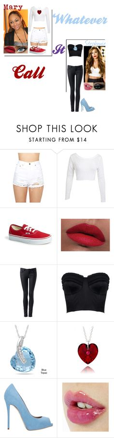 """""""Arts School:Call It Whatever by Bella Thorne"""" by glee2shake ❤ liked on Polyvore featuring Raven Denim, Signature 8, Miss Selfridge, Garcia, Vans, LORAC, Forever New, Amanda Wakeley, Miadora and Giuseppe Zanotti"""